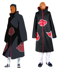 Naruto Shippuden Uchiha Madara Akatsuki Uniform Anime Cosplay Costume (No Shoes)