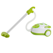 Young Preschool Role Play Home Appliance Housekeeping/Kitchen Furniture Toy Pretend Play Fun - Vacuum Cleaner Green(China)