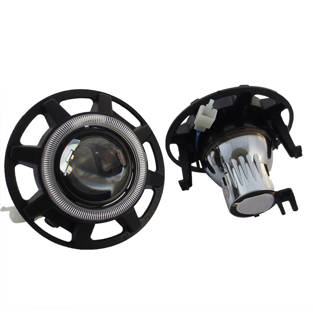 HID Bi-xenon Halogen Bifocal high low beam Projector Fog Lights lens Lamps holder for JEEP compass patriot hireno headlamp for mercedes benz w163 ml320 ml280 ml350 ml430 headlight assembly led drl angel lens double beam hid xenon 2pcs