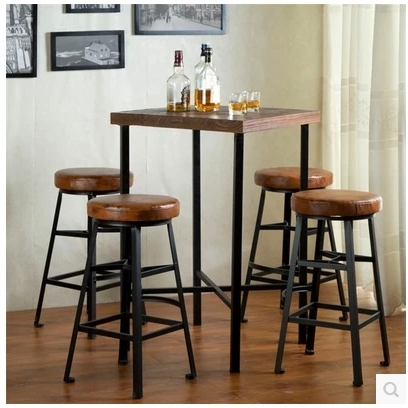 Enjoyable Us 270 0 Continental Iron Factory Direct Vintage Wood Bar Tables And Chairs Dinette Highchair High Stool Chairs Reception In Bar Stools From Gmtry Best Dining Table And Chair Ideas Images Gmtryco