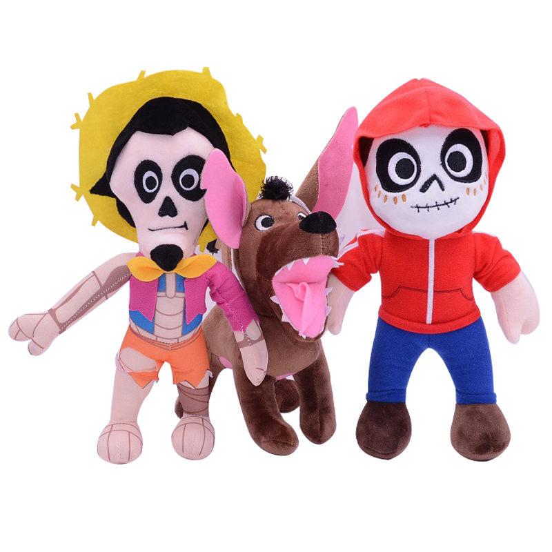 Movie COCO Pixar Plush Toy Doll 30cm Miguel Hector Dante Dog Plush Toys Soft Stuffed Toys for Children Kids Christmas Gifts 1pcs 30cm undertale sans plush doll toy cute anime undertale white sans plush toys soft stuffed toys for children kids gifts