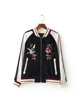 Куртка куртка женщин пальто женщин Высокого класса вышивка воротник воротник куртки женские куртки бейсбола