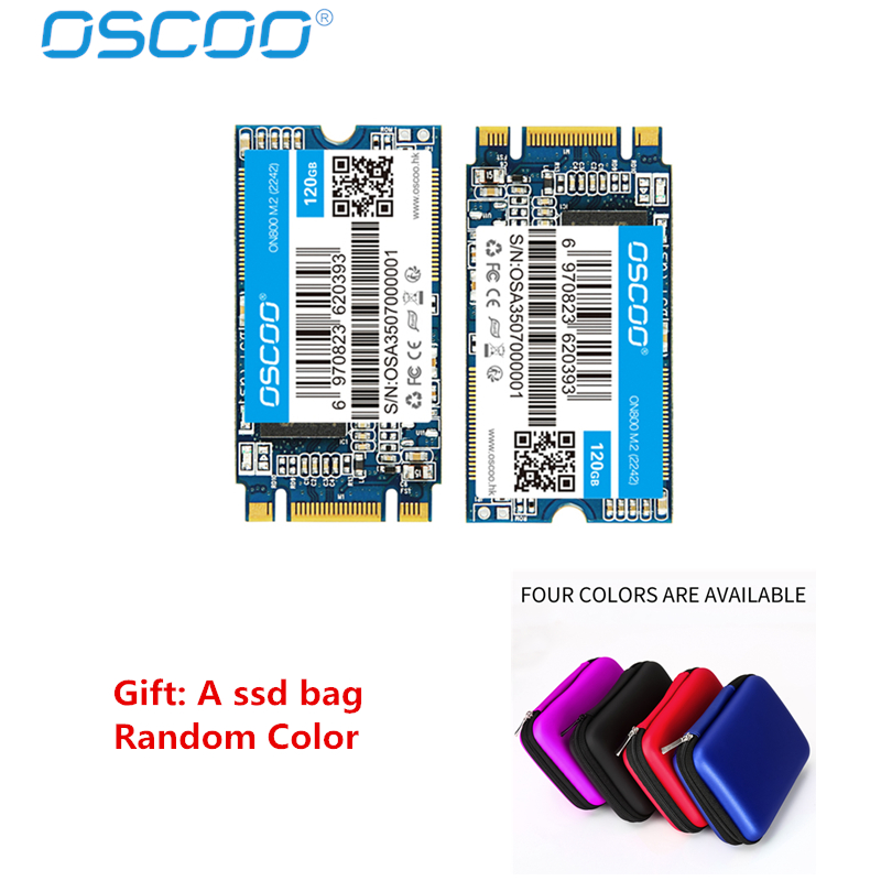 Free Shipping OSCOO 22*42mm NGFF SSD 120GB 240GB SATA III 6Gb/s Internal Solid State Drive NGFF For Notebook M.2 120G SSD disk new and retail package for 00wg770 120g 3 5inch sata ssd
