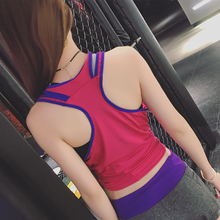 Summer Sexy Women Sport Yoga Tank Tops Dry Quick Loose Gym Fitness Sport Sleeveless Vest Singlet for Running Training P123
