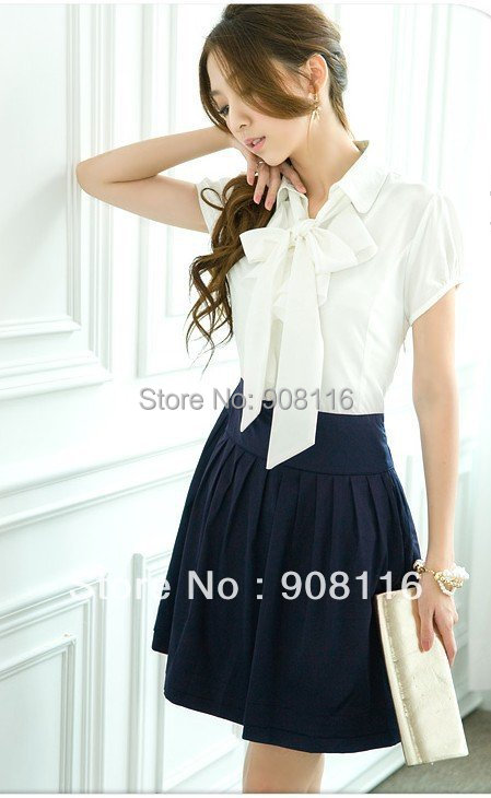 Popular Korean Dress Up Tiny Dresses For Women 2014
