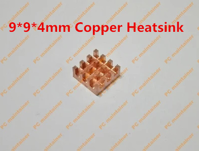 5pcs With Thermal Sticker Ultra small groove pure copper memory MOS radiator electronic IC chip radiator 9*9*4mm Copper Heatsink 10pcs lot ultra small gvoove pure copper pure for ram memory ic chip heat sink 7 7 4mm electronic radiator 3m468mp thermal