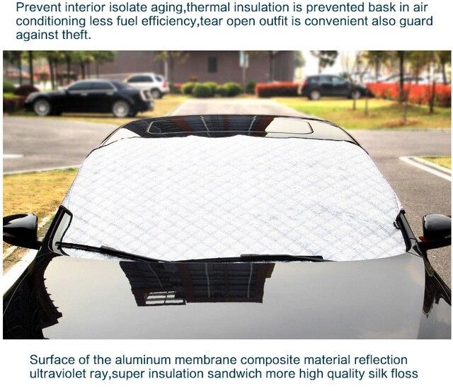 Winter Window Foils Windshield Sun Shade Car Windshield Visor