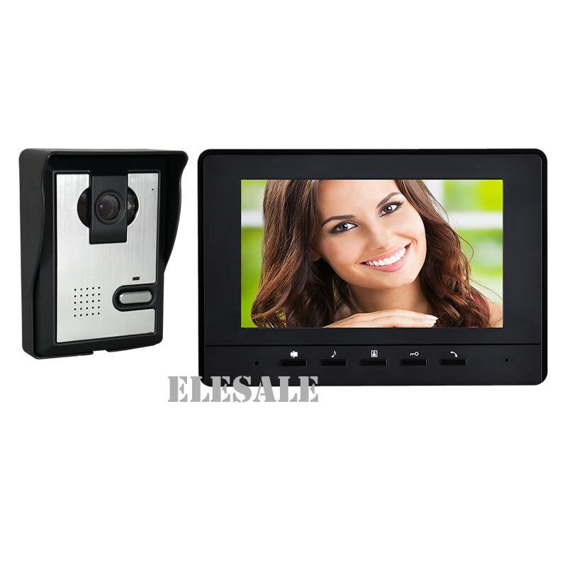 7 wired Video Tür Sprechanlage Türklingel System 700tvl Kamera Farbe Monitor Nachtsicht Unloc Ausgereifte Technologien Türsprechstelle