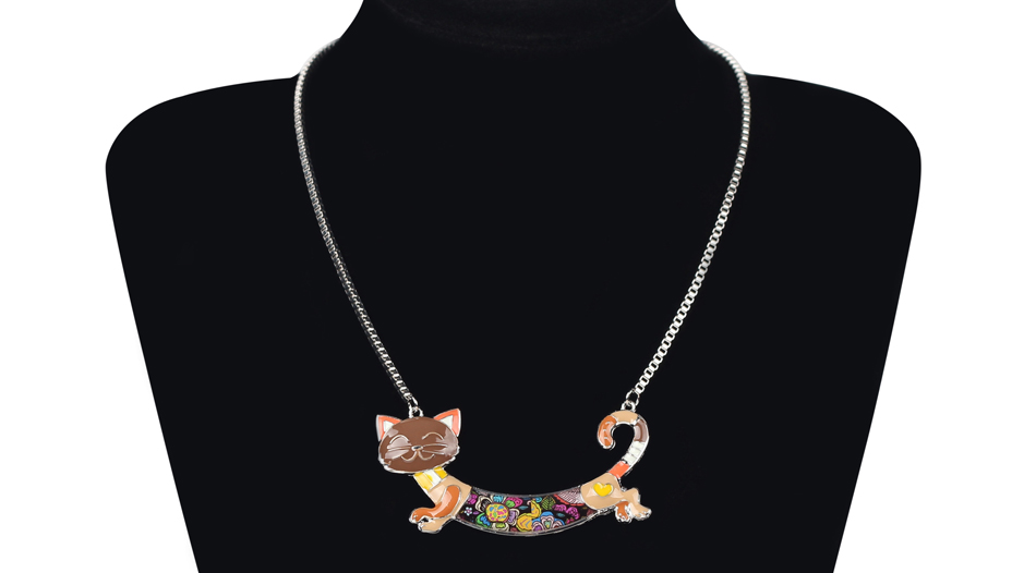 CUTE ALLOY ENAMEL CAT NECKLACE-Cat Jewelry-Free Shipping CUTE ALLOY ENAMEL CAT NECKLACE-Cat Jewelry-Free Shipping HTB1hqT3XXkoBKNjSZFEq6zrEVXaX