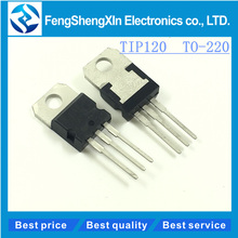 10pcs/lot   New   TIP120   T1P120  TO-220  Darlington complementary silicon power transistors