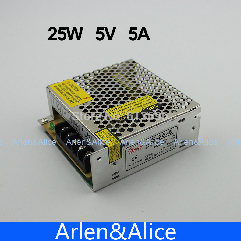 25W 5V 5A Single Output Switching power supply for LED Strip light