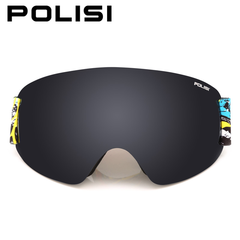 POLISI Professional Ski Goggles Double Layer Lens Anti Fog UV Protection Skiing Eyewear Winter Snowboard Snow Glasses, Gray Lens-in Skiing Eyewear from Sports & Entertainment    2