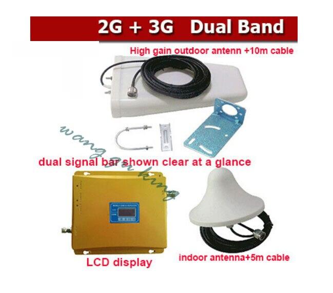 Vente chaude 1 Set double bande 900 et 3g répéteur pour amplificateur répéteur de Signal, répéteur GSM 3g Booster 2100 mhz, amplificateur de Signal 3g