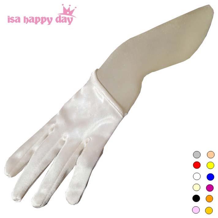 Short Cheap Bridal Gloves White Ivory Red Black Half Palm Satin Wedding Gloves For Bride Sexy Bridal Gloves Fingers Wedding