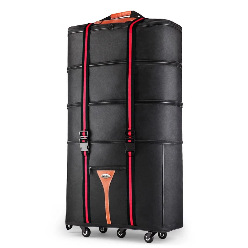 Hot 36 size Large capacity Oxford rolling luggage bag abroad to study and move to move