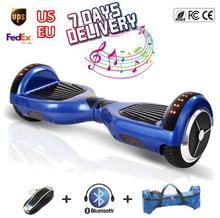 6.5 Pulgadas de dos ruedas equilibrio scooter hover bordo cromo Auto Balanceo ul hoverboard de cromo scooter eléctrico Scooter con ruedas led