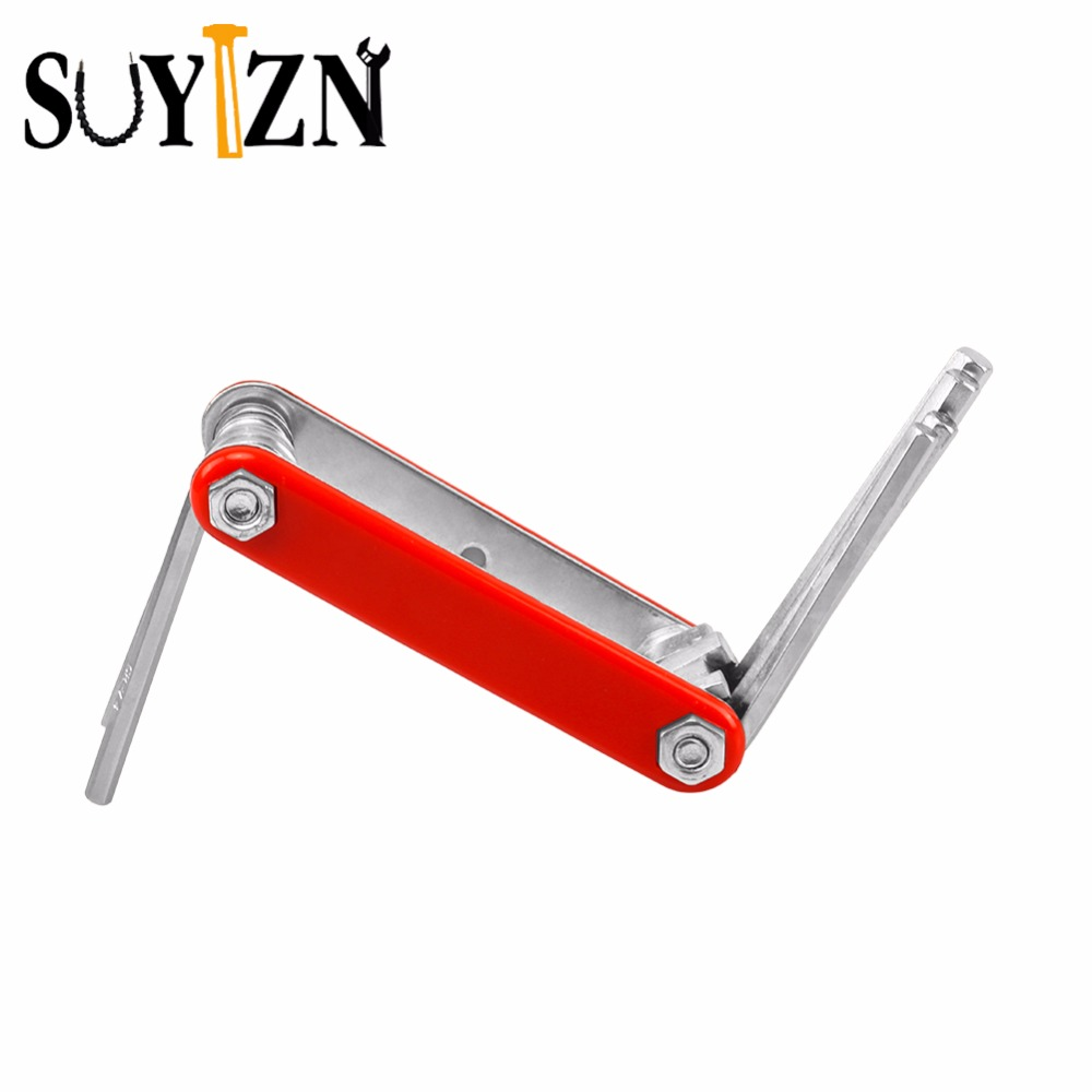 10Pcs Folding Allen Key Wrench A Set Of Keys Wrenches Portable Key Hex Wrench Mini Spanner For Car ZK18 allen hex wrench hardware tools set kit kanda within nine sets of mini round