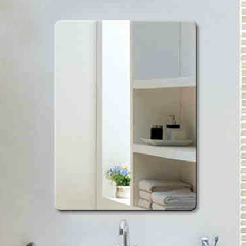Aliexpress Buy Fashion Bathroom Ultra Clear Glass Mirror Square Wall Frameless 500700mm Beveled From Reliable