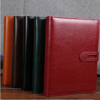 Free shipping business notebook office meeting and conference leather notebook promotion spiral notebook MOQ one piece per lot