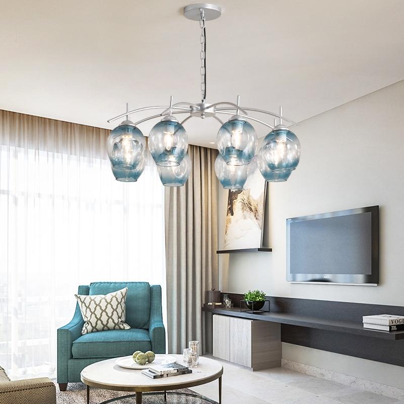 Veayas Modern Glass Pendant Light Nordic Dining Room ...