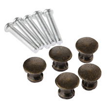 5Pcs 12x11mm Antique Bronze/Silver Jewelry Box Knobs and Pulls Drawer Cupboard Cabinet Furniture Pull Handles Fittings
