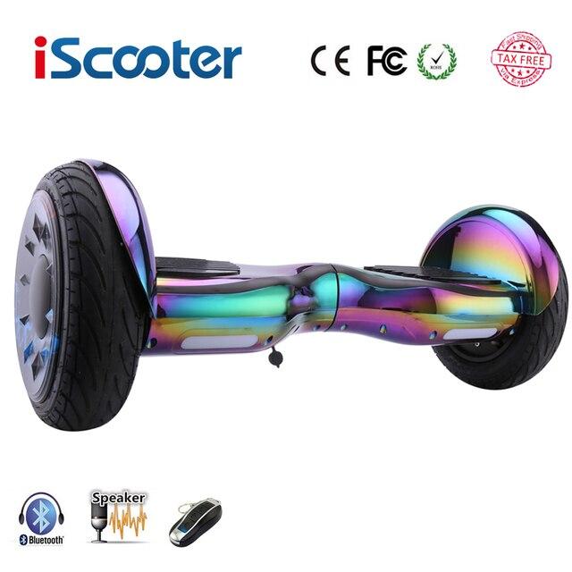 Ховербордом 10 дюймов скутер самостоятельно баланс Электрический ХОВЕРБОРДА за бортом gyroscooter oxboard скейтборд два Колёса ХОВЕРБОРДА