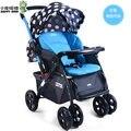 Luz carrinho de criança super grande pode sentar pode mentir plana dobrável two-way carrinho de bebê