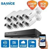 8CH система видеонаблюдения 1080 P PoE, сетевые системы видеонаблюдения 8 шт. 2.0MP IP камера 8CH NVR водонепроницаемый комплект наружного видеонаблюде