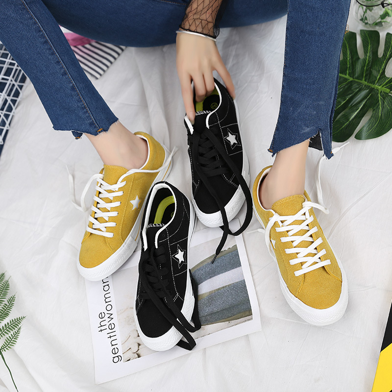 Skateboard Shoes Skateboarding Skate Sneakers Canvas Zapatos Lona  Aqua Star Shoes Female Balance Weights Black Original