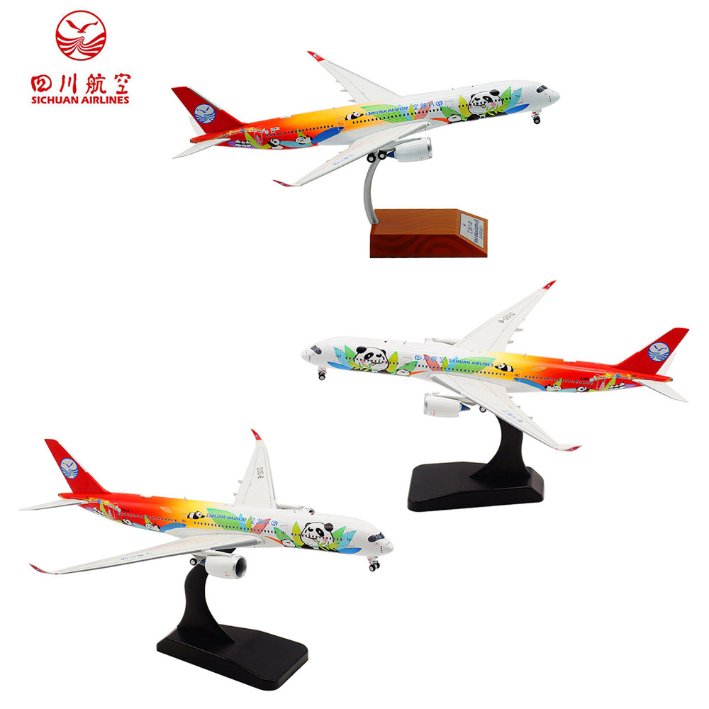 цена на TAIHONGYU 1/200 1/400 China Sichuan Airlines Airplanes Planes Panda Aircraft Model A350-900 B-301D Alloy Toys Collection