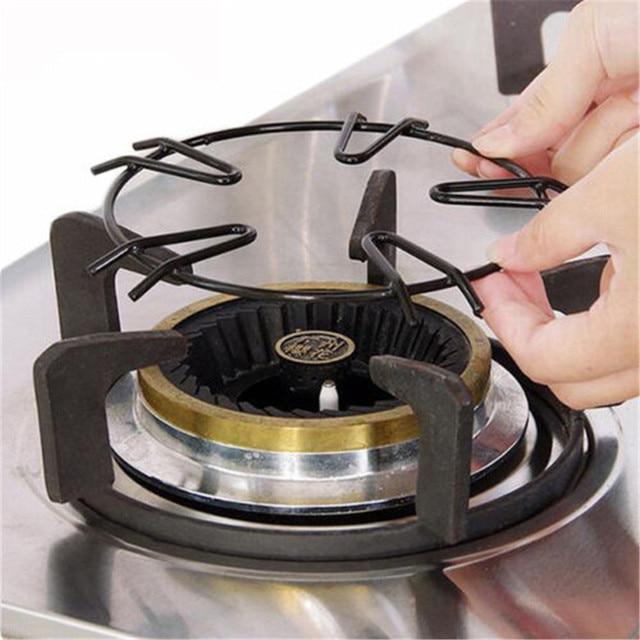 2018 New Milk Pot Stand Gas Stove Cooking Metal Trivet Holder Kitchen Tool