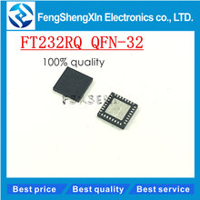 10 pçs/lote New FT232 FT232RQ QFN32 USB UART porta serial Assíncrona