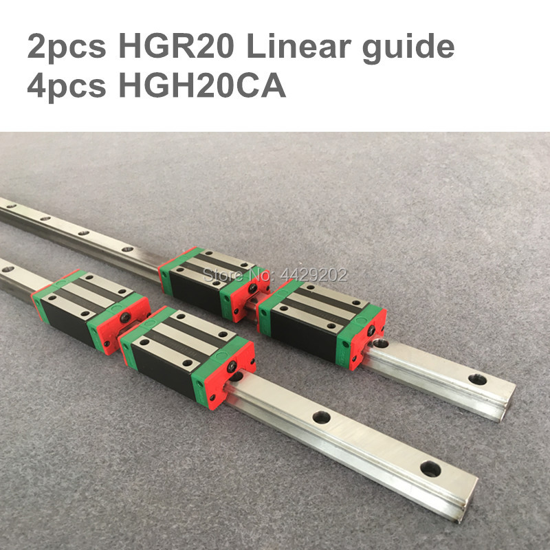 2pcs linear guide rail HGR20 -500 1500 2500mm  with 12 pcs of linear block carriage HGH20CA  CNC parts2pcs linear guide rail HGR20 -500 1500 2500mm  with 12 pcs of linear block carriage HGH20CA  CNC parts