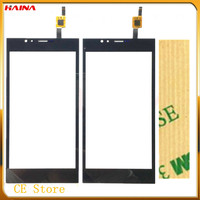 black color with Touchscreen Sensor For Highscreen Pure Power Touch screen display Panel Repair Part Free Shipping Tape