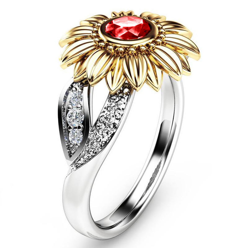 Crystal Sunflower Ring 4