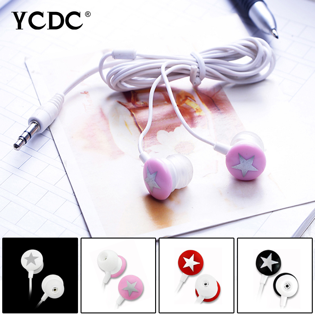 +Hot sale+ YCDC 4 Colors Universal 3.5mm In-ear Star Stereo Earphone For Xiaomi HTC Samsung iPhone MP3 MP4 free shipping ycdc lovely star 3 5mm earphone earbud for xiaomi htc samsung iphone mp3 mp4 pc 4 colors