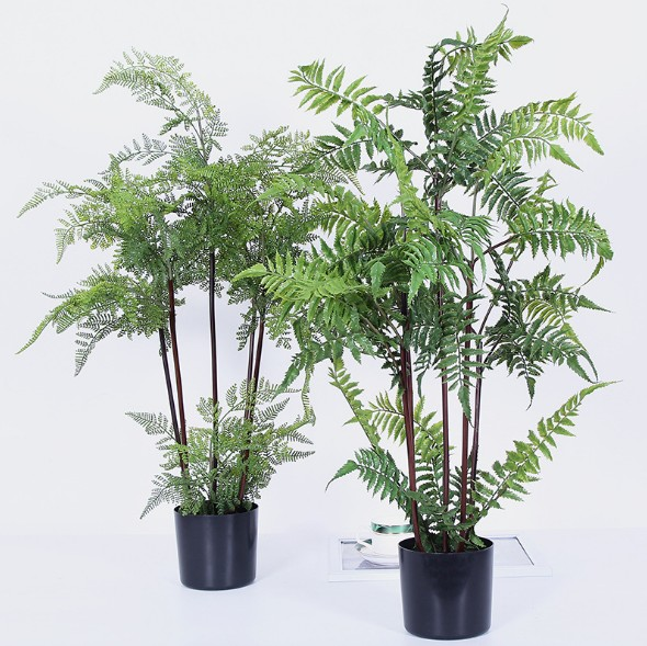 80cm Artificial Plastic Plants West Fern Tree Home Garden Indoor Fake Decor With Pot In From On