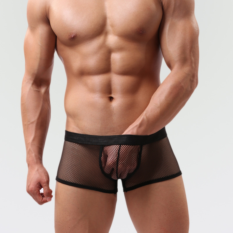 16d5e7e872208 Foreign trade perspective transparent mesh boxer Men Yiwu sourcing  wholesale sexy lingerie for men sexy-in Boxers from Underwear & Sleepwears  on ...