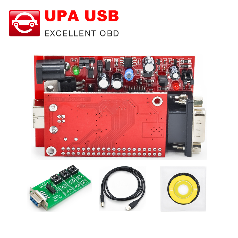 UPA USB V1.3 ECU Programmer Diagnostic tool UPA-USB Programmer UPA main unit simple version with Full Adapters version optional