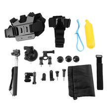 9 in 1 set Head Chest Mount Floating Monopod Pole Camera Accessories Kits for Gopro / Xiaomi Yi / SJ /Sony mini action Wholesale