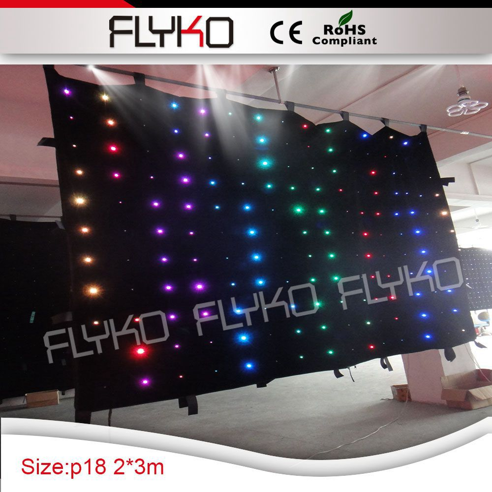 Dj Booth For Sale >> Us 416 0 Led Curtain Light 2x3m P180mm Indoor Concert Stage Sale Led Curtain For Dj Booth In Stage Lighting Effect From Lights Lighting On
