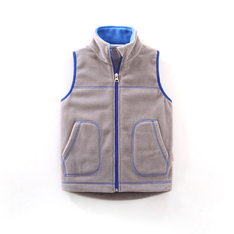 Children Clothes New Zipper Decoration Suitable For Boys Girls Wear Autumn Winter Wai Vest Polar Fleece Keep Warm Vest 3-8year