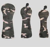 Camouflage Golf Clubs Headcovers Set for Woods Golf Driver Fairway Utililty Protective Cover 3PCS 3Colors