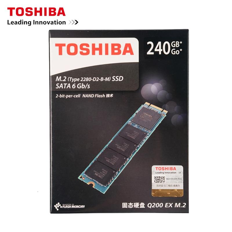 Toshiba Q200EX série 240G M.2 2280 lecteur à semi-conducteurs 240 GB NGFF SSD interne 6 Gb/s 550 MB/S pour ordinateur de bureau portable