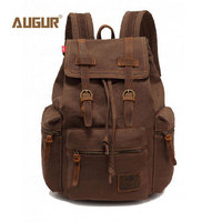 AUGUR New Fashion Men S Backpack Vintage Canvas Backpack School Bag Men S Travel Bags Large