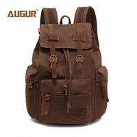 AUGUR New Fashion Men S Backpack Vintage Canvas Backpack School Bag Men S Travel Bags Large