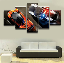 5 Pieces Cartoon Game Need For Speed Modern Home Wall Decor Painting Canvas HD Print Picture