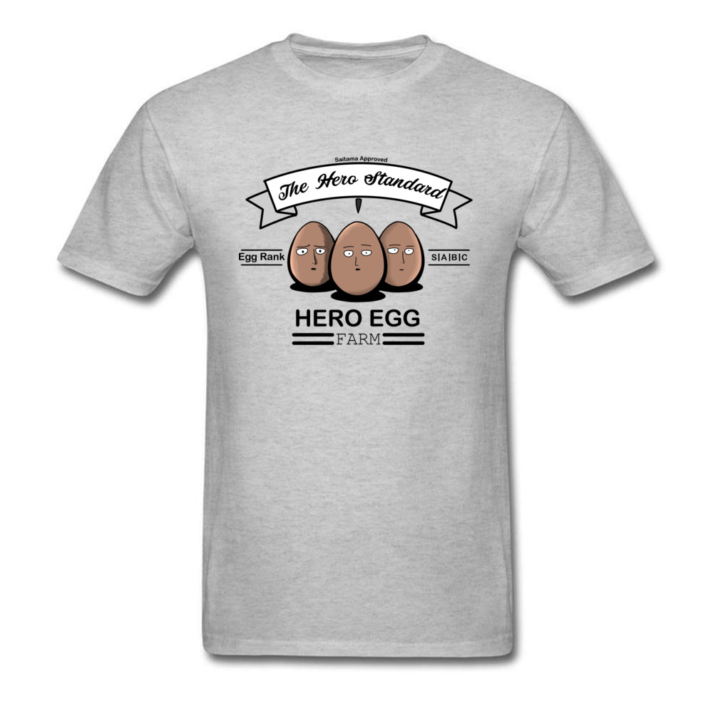 Hero Egg One Punch Man T Shirts Standard Bald Head Superhero T-shirt Japanese Anime Clothing Funny Tshirt Designer Top Tees