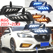 1 комплект фар бампера автомобиля MG 6 MG6 дневного света 2019y автомобильные аксессуары светодиодный DRL Дневной свет для MG6 противотуманных фар