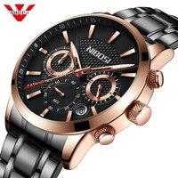 NIBOSI Watch Men Brand Luxury Fashion Quartz Sport Watch Men Steel Military Clock Waterproof Gold Men's Watch Relogio Masculino